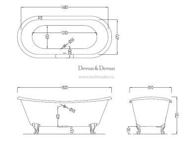 Devon&Devon Admiral Lux, размеры