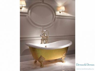 Золотая чугунная ванна Devon Devon Mida 170х75
