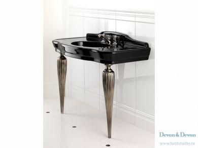 Devon Devon Serenade Consolle Раковина из черной керамики на ножках