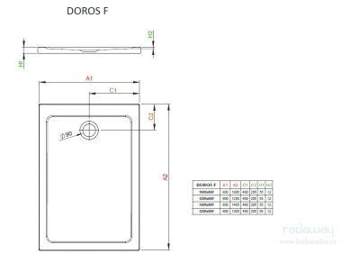 Radaway Doros F Поддон 120х80см