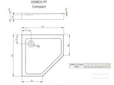Radaway Doros PT Compact Поддон 90х90см