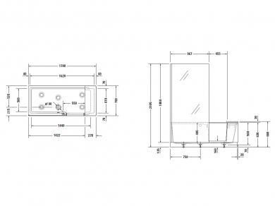 Комбинированная ванна с дверцей Shower + Bath 170х75