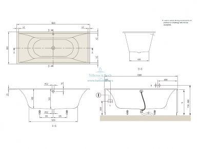 Квариловая ванна Villeroy&Boch La Belle 180