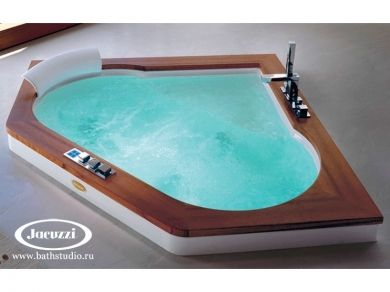 Jacuzzi Aura Corner 140 Wood Ванна с гидромассажем 140х140см