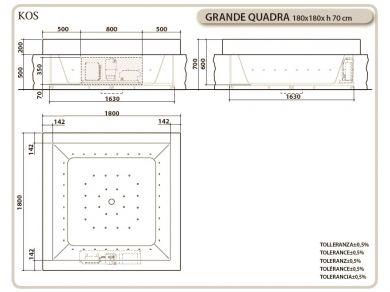 Ванна KOS GRANDE QUADRA