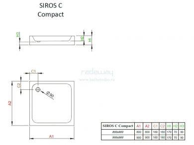 Radaway Siros C Compact