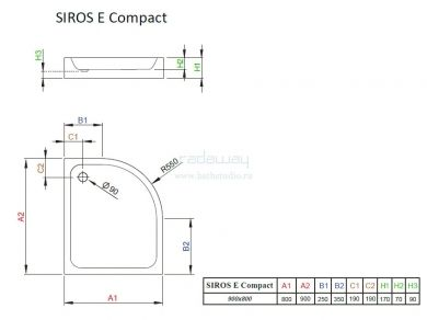 Radaway Siros E Compact
